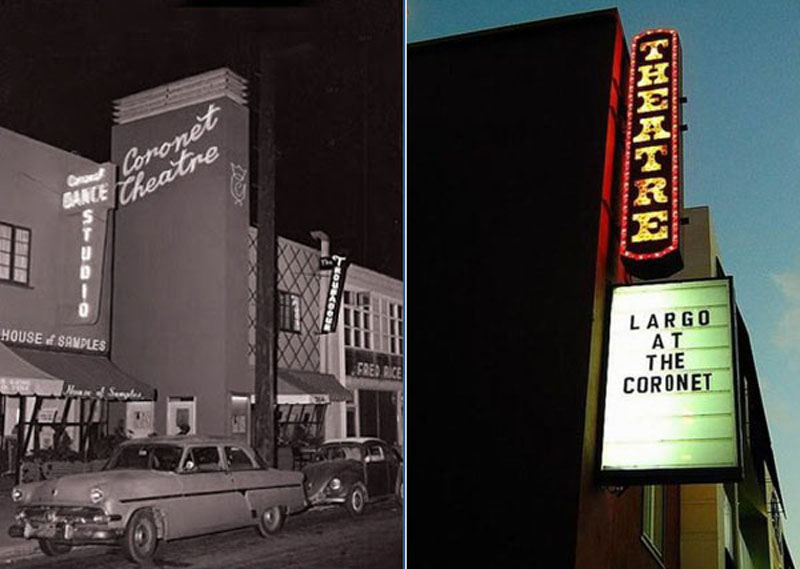 The Coronet, then and now, Largo at the Coronet