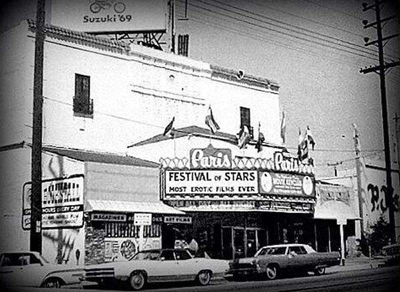 A rare photo of the exterior of the Carmel after it had been renamed the Paris.